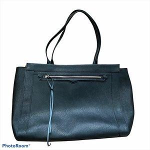 Rebecca Minkoff Monroe Saffiano Black Leather Laptop Tote Bag